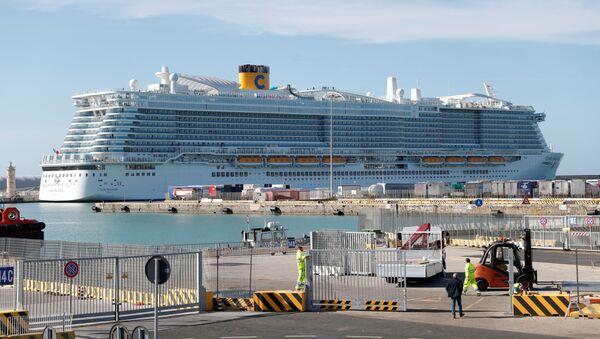 El crucero Costa Smeralda  - Sputnik Mundo