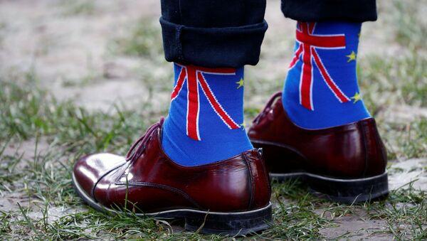 Las calcetines con Union Jack, la bandera del Reino Unido - Sputnik Mundo