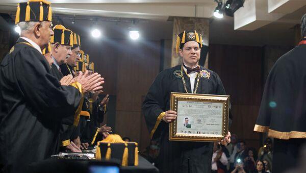 Daniel Martín, durante la entrega de un doctorado Honoris Causa en México - Sputnik Mundo