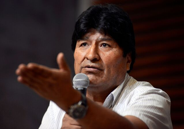 Evo Morales, expresidente boliviano