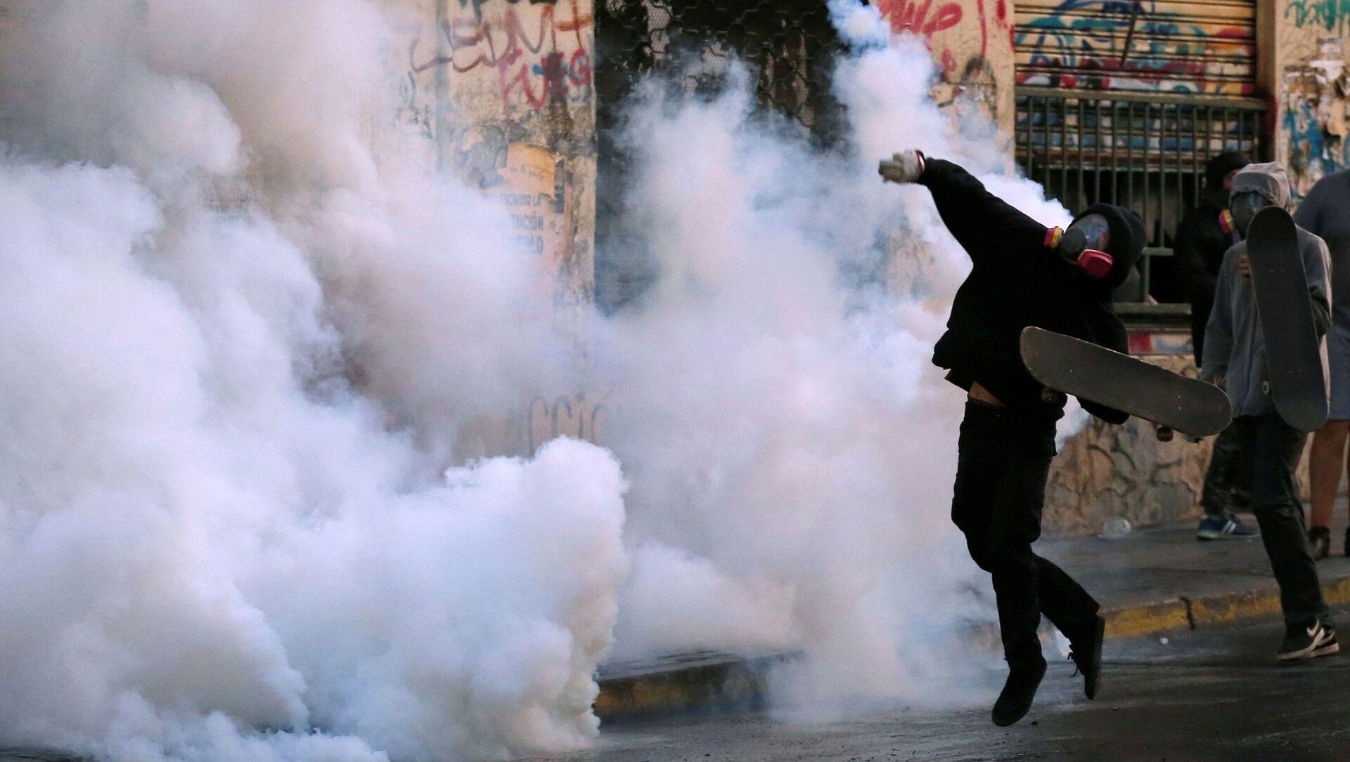 Las protestas en Chile  - Sputnik Mundo, 1920, 27.02.2020