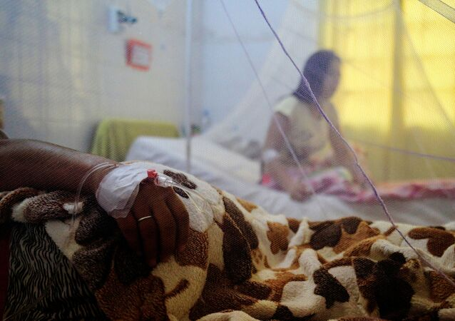 Un paciente con dengue en Asunción