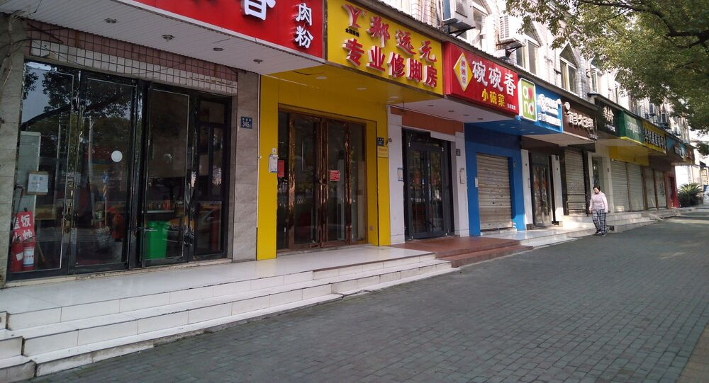 La ciudad de Wuhan, China