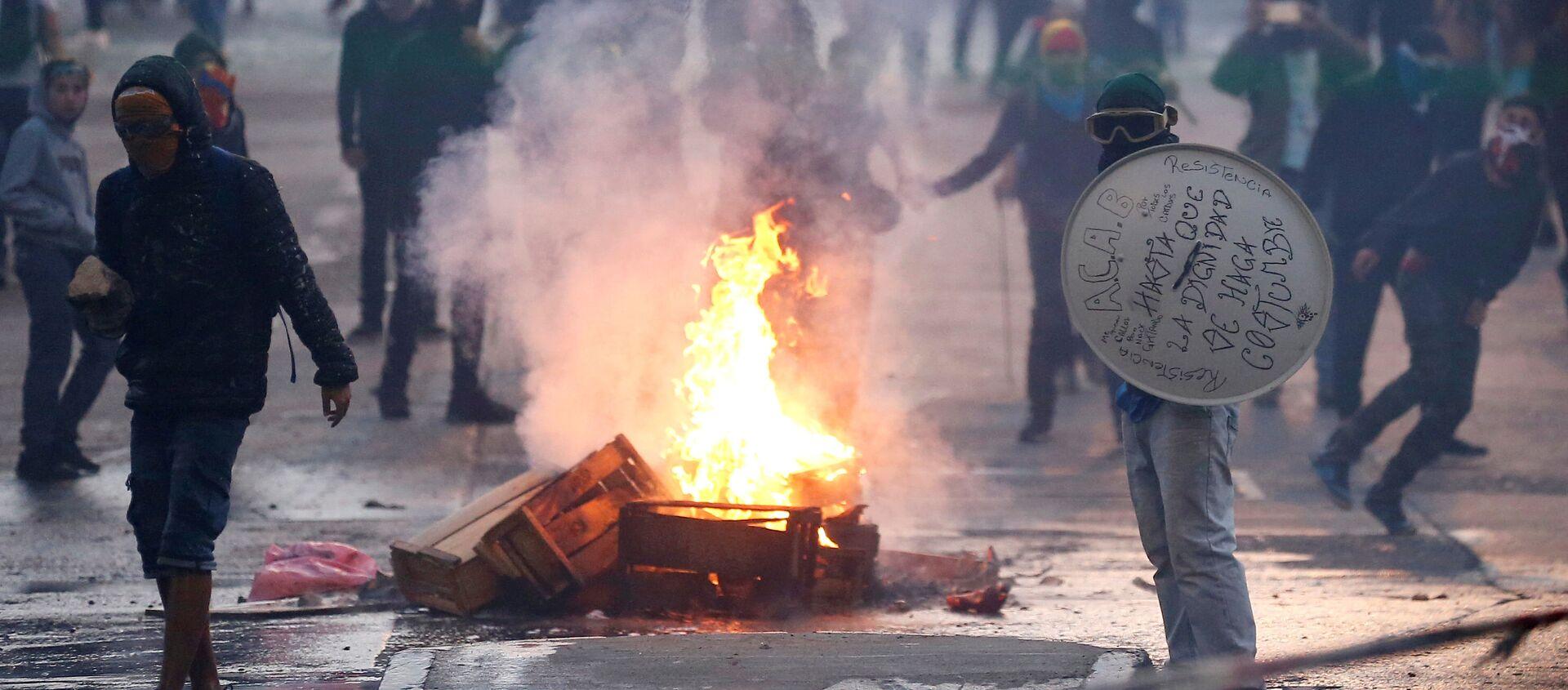 Protestas en Chile  - Sputnik Mundo, 1920, 31.01.2020