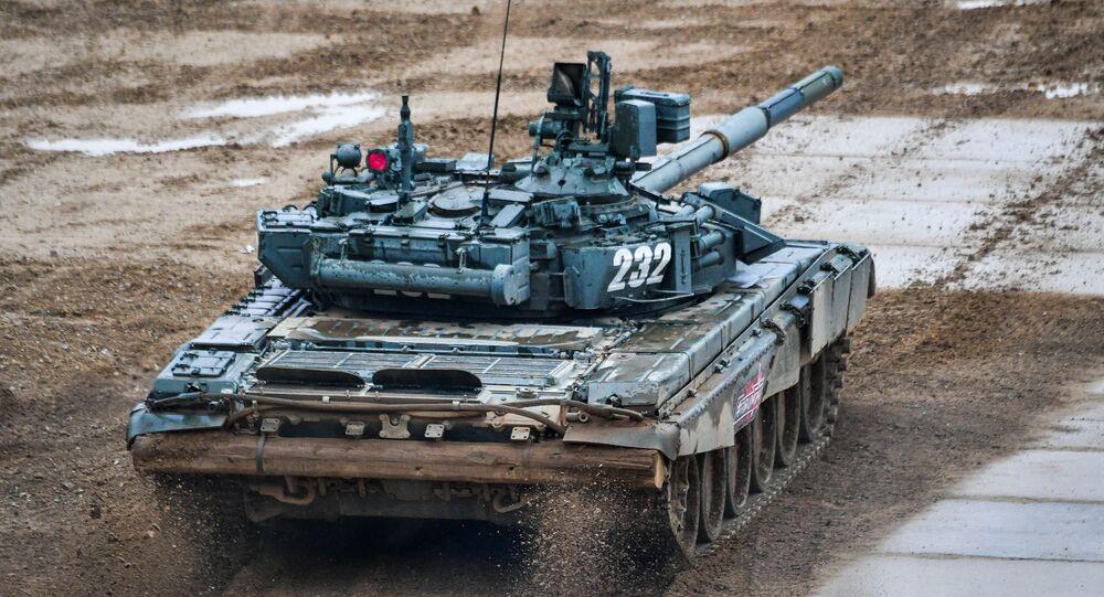 Un tanque T-90A (archivo)