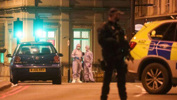 El lugar del ataque en Londres - Sputnik Mundo