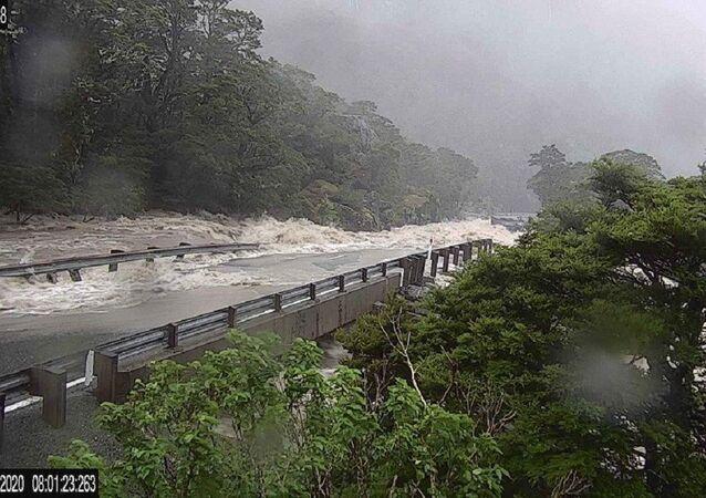 Inundación en Nueva Zelanda
