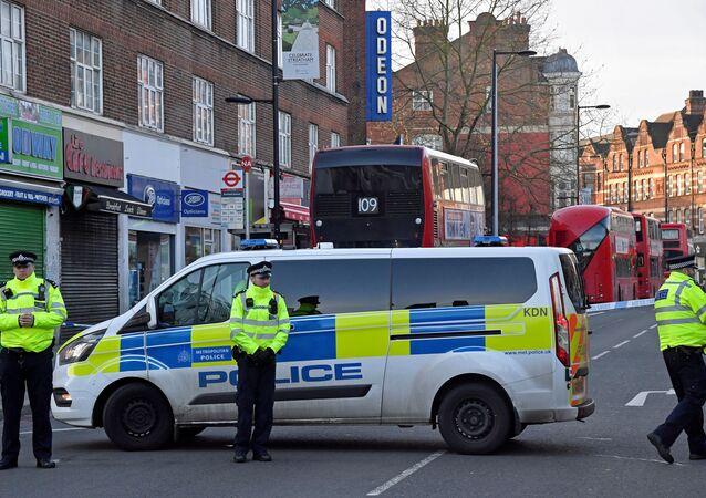 La Policía en el lugar del ataque en Londres