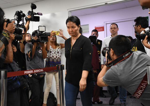 Keiko Fujimori, líder del partido Fuerza Popular de Perú