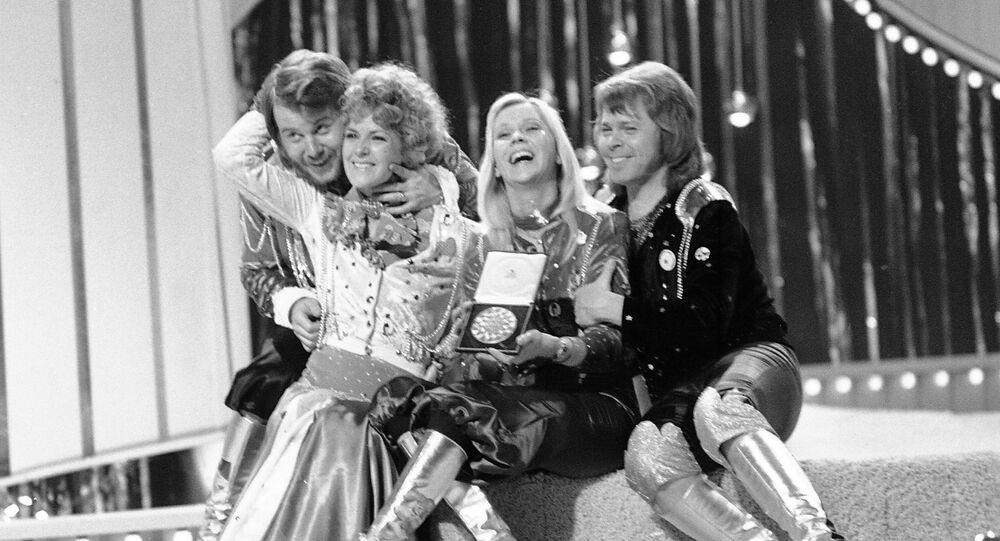 El grupo sueco ABBA en el festival Eurovisión de 1974