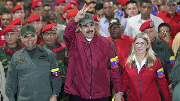 El presidente de Venezuela, Nicolás Maduro, encabeza una marcha cívico militar - Sputnik Mundo