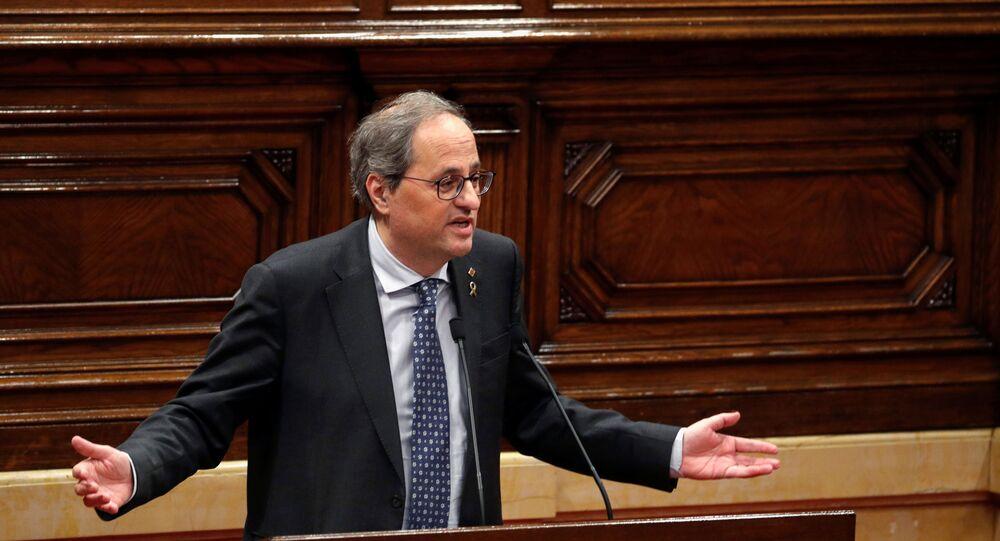Quim Torra, el presidente de Cataluña