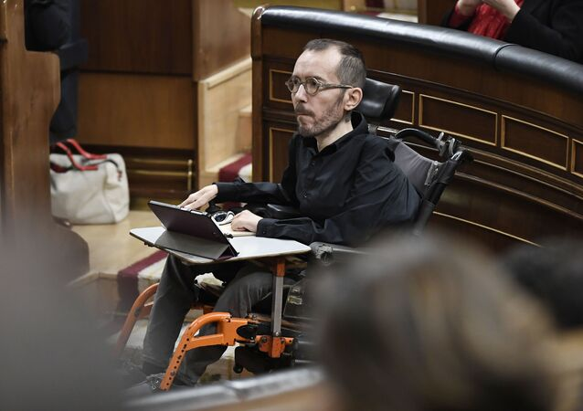 Pablo Echenique en el Congreso de los Diputados