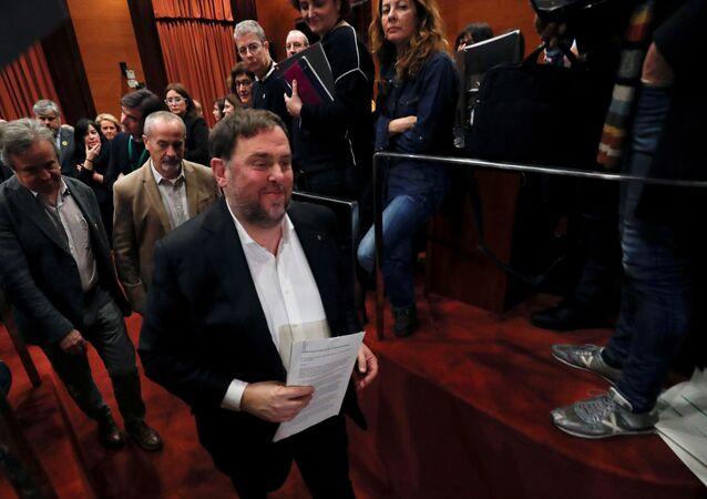 Oriol Junqueras, exvicepresidente del Gobierno catalán