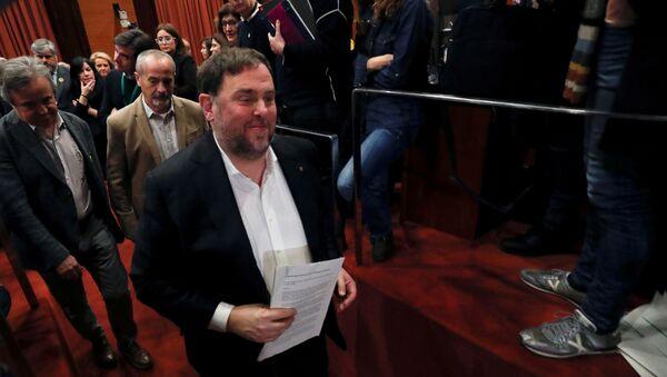 Oriol Junqueras, exvicepresidente del Gobierno catalán - Sputnik Mundo