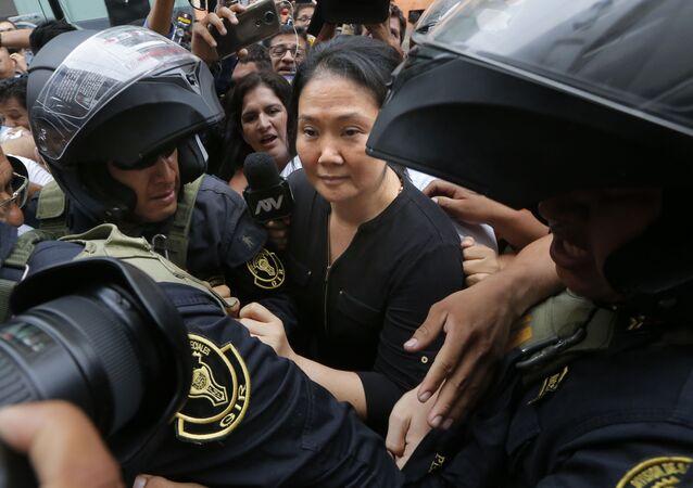 Keiko Fujimori, líder del partido peruano Fuerza Popular