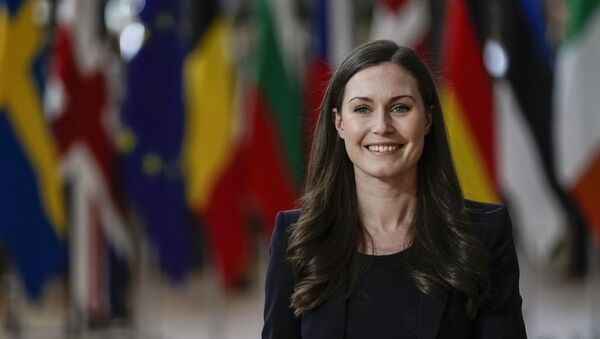 Sanna Marin, primera ministra de Finlandia - Sputnik Mundo
