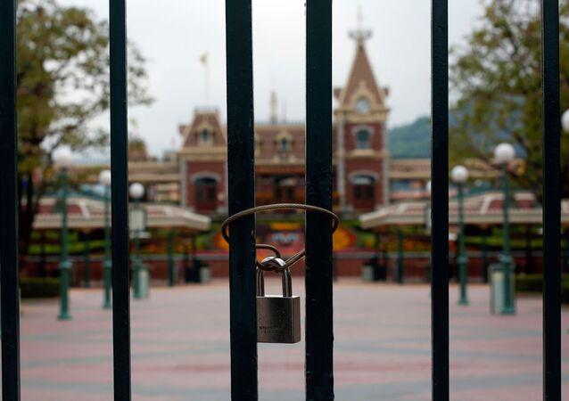 El parque de atracciones Disneyland Hong Kong