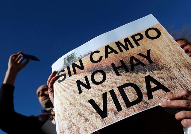 Protesta de agricultores en España