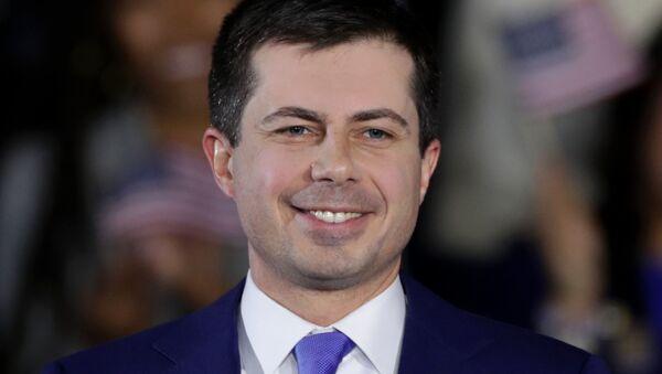 Pete Buttigieg, precandidato a la Presidencia de EEUU del Partido Demócrata - Sputnik Mundo