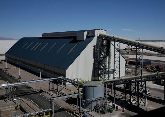 Una planta industrial en Bolivia en el marco del proyecto de litio con Alemania