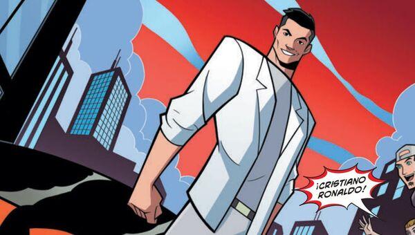 Un recuadro del cómic 'Striker Forcer 7' protagonizado por Cristiano Ronaldo - Sputnik Mundo