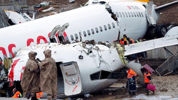 Avión accidentado en Turquía - Sputnik Mundo