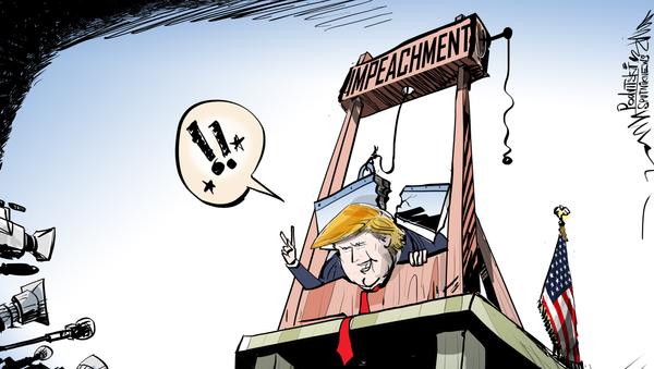 El 'impeachment' contra Trump: la guillotina se rompe - Sputnik Mundo
