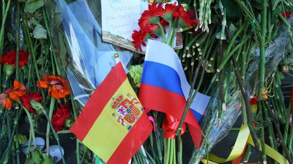 Banderas de Rusia y España - Sputnik Mundo