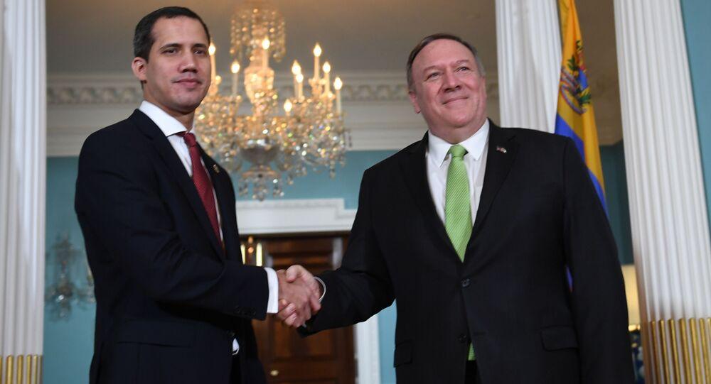 El líder opositor venezolano Juan Guaidó y el secretario de Estado de EEUU, Mike Pompeo