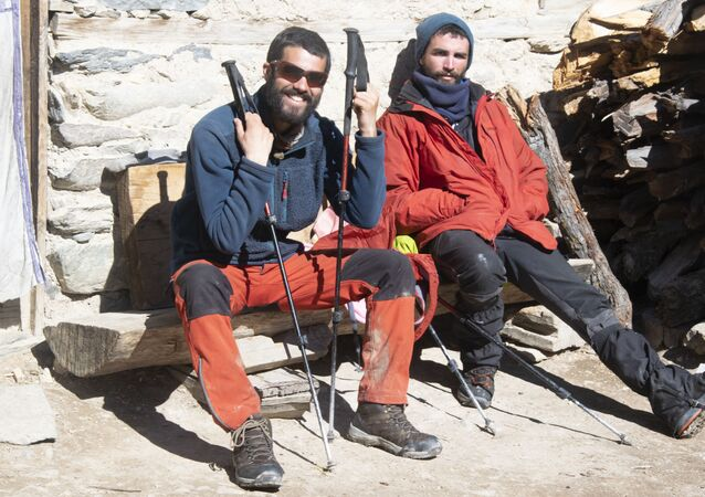 Sergi Unanue y Dani Benedicto en el Himalaya