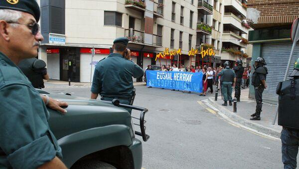 Guardia Civil en Alsasua durante una manifestación independentista - Sputnik Mundo
