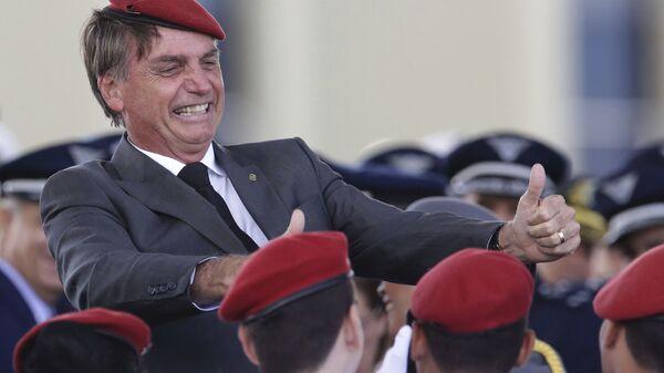 El presidente de Brasil Jair Bolsonaro (archivo) - Sputnik Mundo