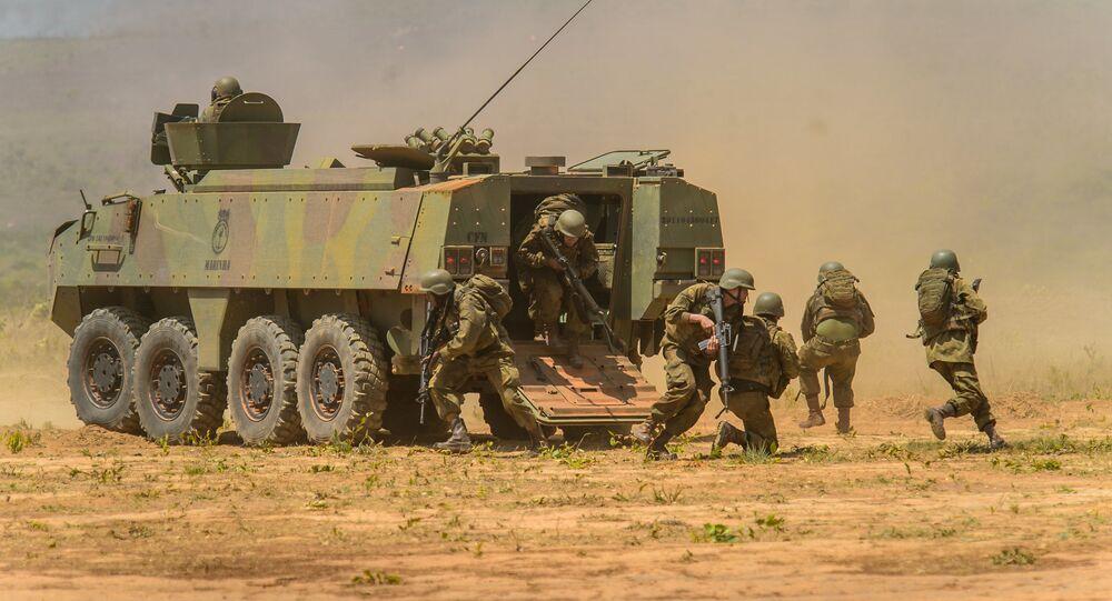 Infantería de Brasil en operación militar