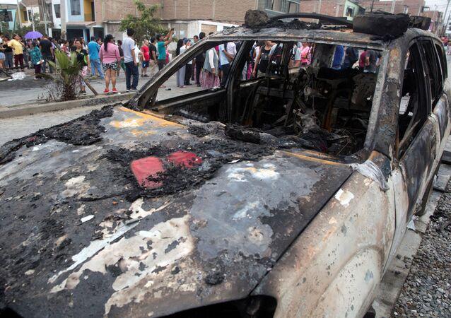 Lugar del explosión en Lima
