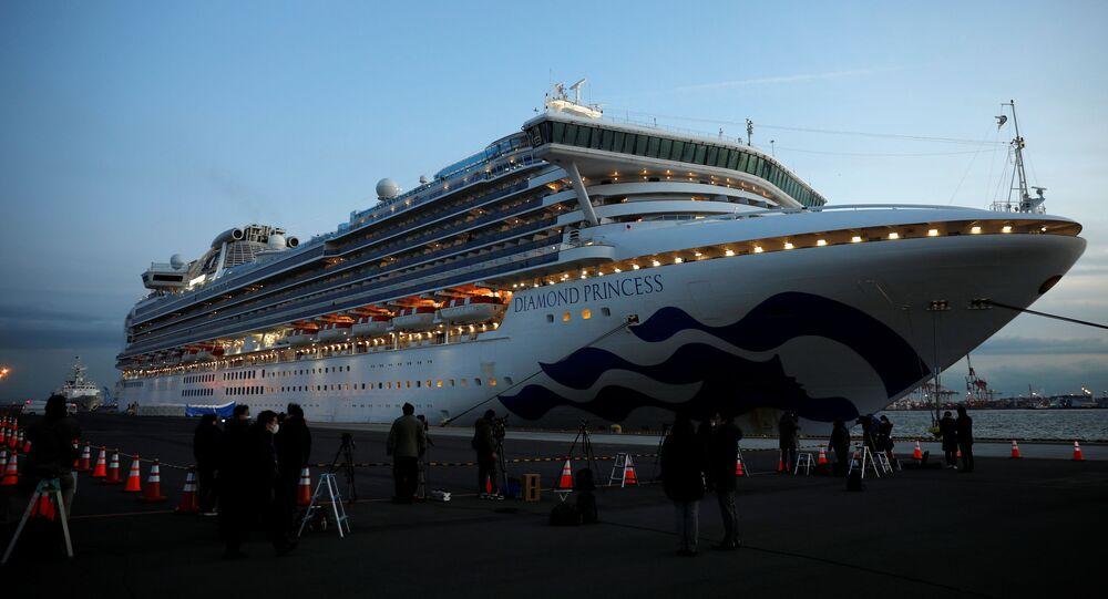 El crucero Diamond Princess, bloqueado en Yokohama
