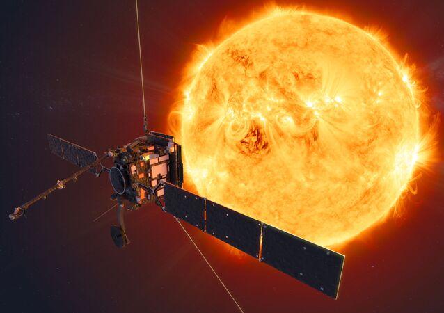 Imagen referencial de la sonda espacial Solar Orbiter