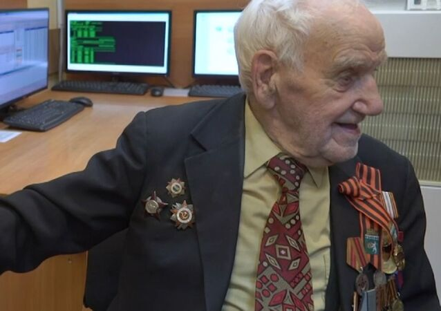 Víktor Volchkovich, veterano de la Segunda Guerra Mundial, combatiente del Ejército Rojo de la URSS