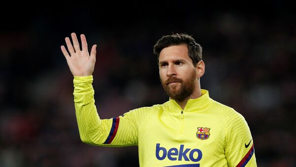 El futbolista Lionel Messi  - Sputnik Mundo