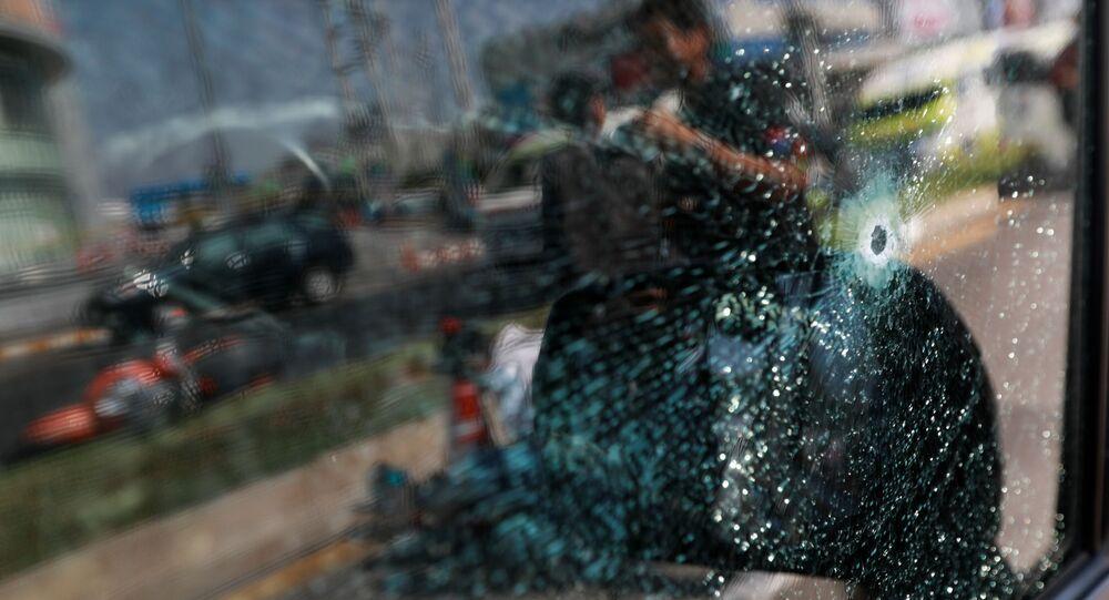 Cristal roto en el centro comercial tailandés donde se produjo un tiroteo