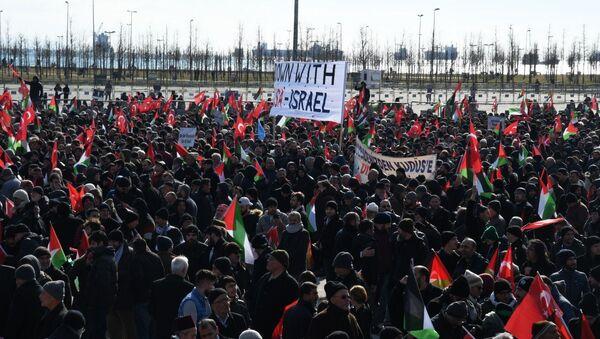 Protestas en Estambul contra el 'acuerdo del siglo' de Trump - Sputnik Mundo
