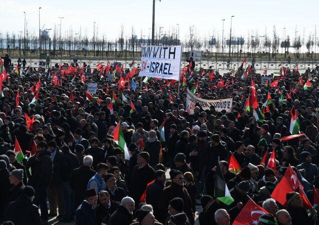 Protestas en Estambul contra el 'acuerdo del siglo' de Trump