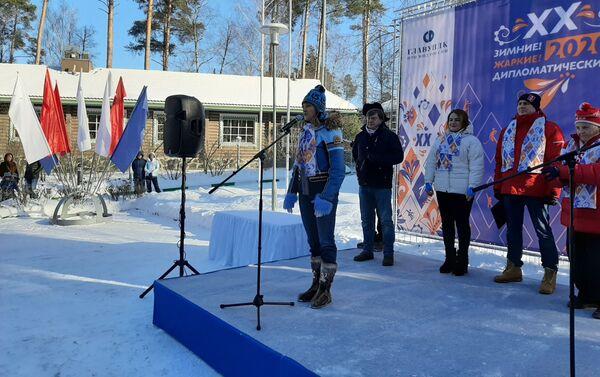Svetlana Zhúrova en la ceremonia de inauguración de los XX Juegos Diplomáticos de Invierno - Sputnik Mundo