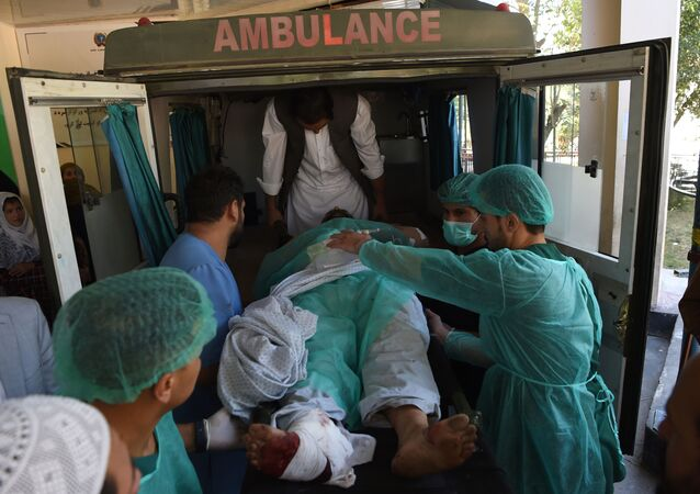 Una ambulancia en Kabul, Afganistán