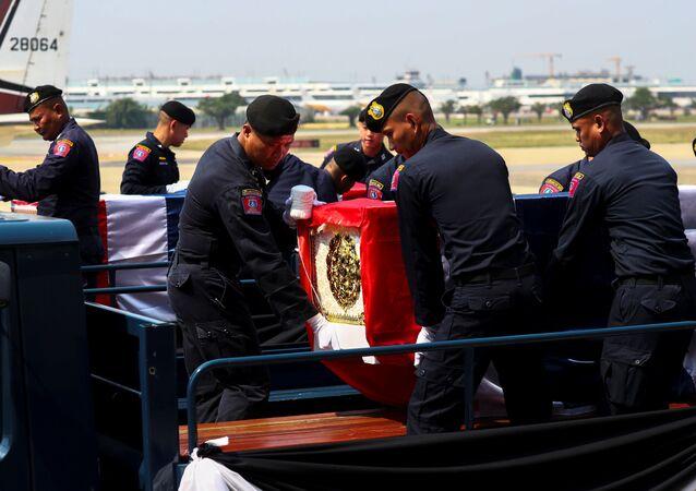 Funerales de las víctimas del tiroteo en Tailandia