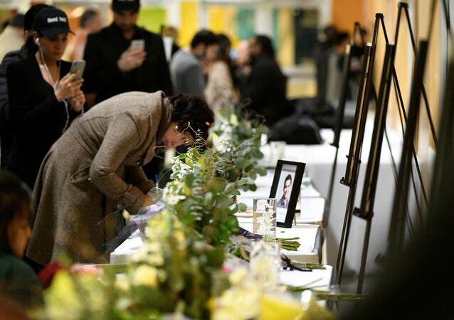 Homenaje a las víctimas del siniestro del avión ucraniano en Teherán, Irán
