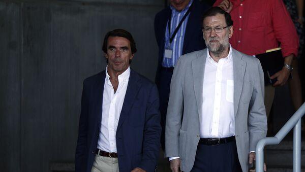 Los expresidentes del Gobierno español José María Aznar y Mariano Rajoy - Sputnik Mundo