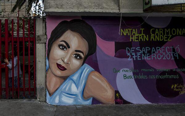 Mural de Natali Carmona Hernández, sobre la calle Cuauhtémoc en la colonia San Lorenzo Tezonco - Sputnik Mundo