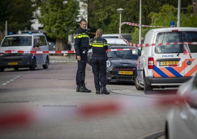 Dos agentes de Policía en Ámsterdam