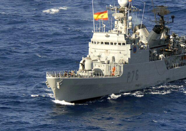 La corbeta española Infanta Elena
